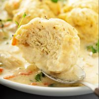 Homemade Chicken and Dumplings Recipe: my easy chicken and dumplings recipe, with big fluffy dumplings that are made from scratch, but only take a few minutes! #Soup #Chicken #Recipe