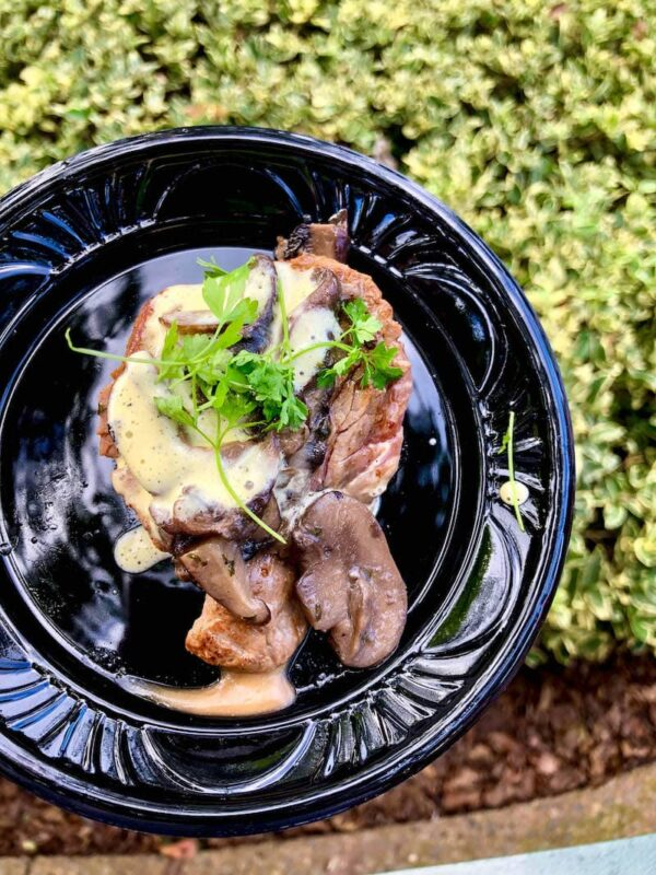Le Cellier Wild Mushroom Beef Filet Mignon with Truffle-Butter Sauce at Epcot Food & Wine Festival