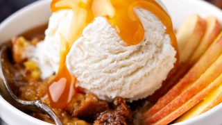 Cobbler Two Ways: Pumpkin Pecan Cobbler and Caramel Apple Cobbler