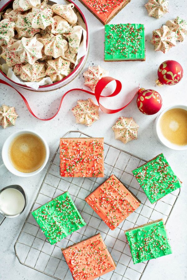 Gingerbread Two Ways: Gingerbread Meringues and Gingerbread Cookie Bars