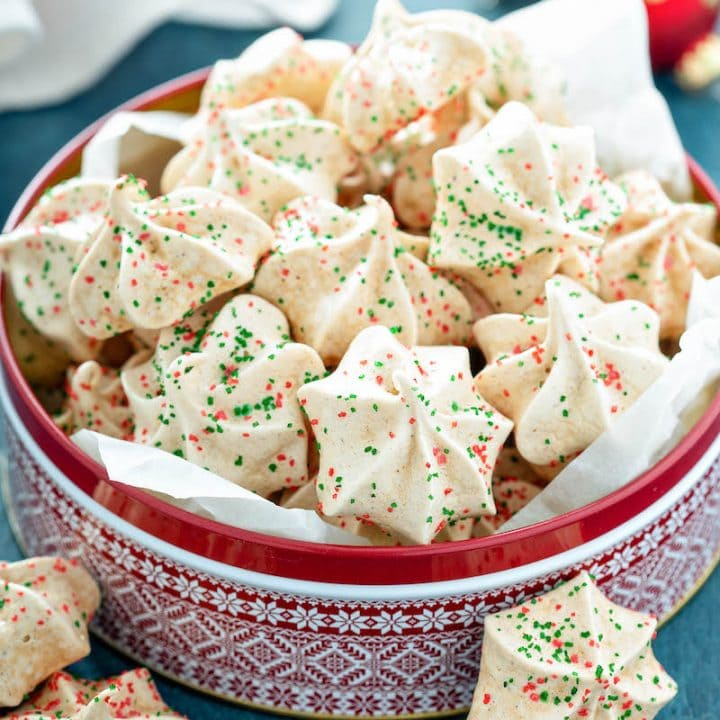 Gingerbread Two Ways: Gingerbread Meringues with a crisp outside and soft gooey centers and moist spiced Gingerbread Cookie Bars with a sweet cream cheese icing!