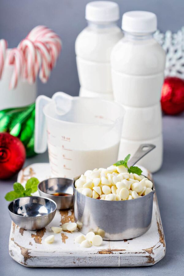 Ingredients for the Grinch Hot Chocolate