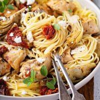 Chicken, Artichoke and Sun-Dried Tomato Pasta Recipe