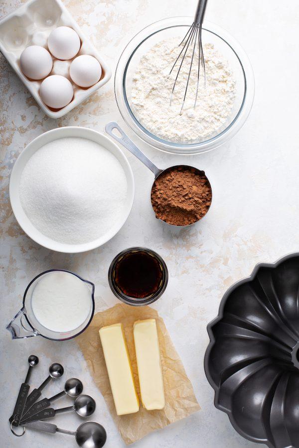 Root Beer Pound Cake Ingredients