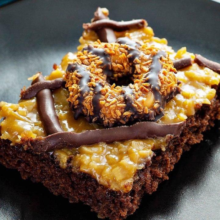 Samoa Cookies Sheet Cake Recipe