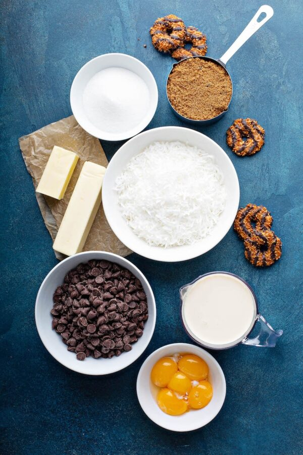 Samoa Cookies Sheet Cake Ingredients