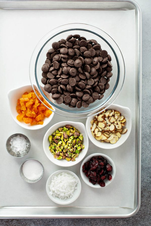 Chocolate Bark Ingredients