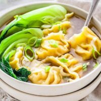Wonton Soup Recipe (with Homemade Dumplings)