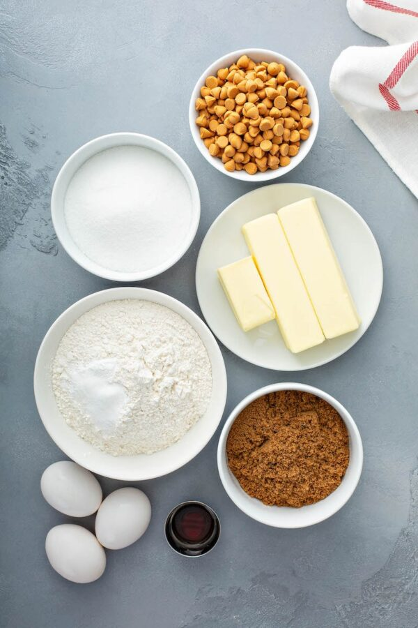 Ingredients for Butterscotch Blondies.