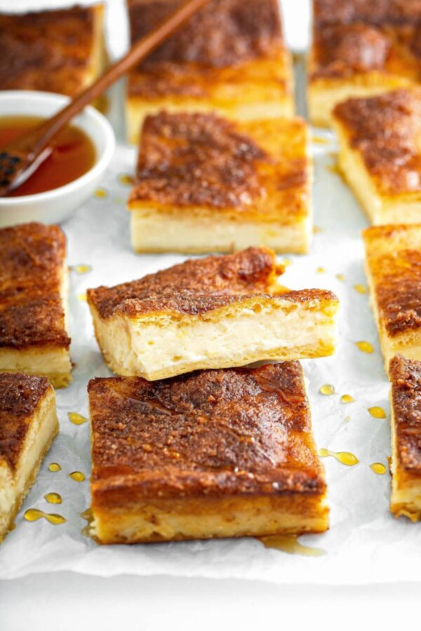 Slices of Sopapilla Cheesecake bars.