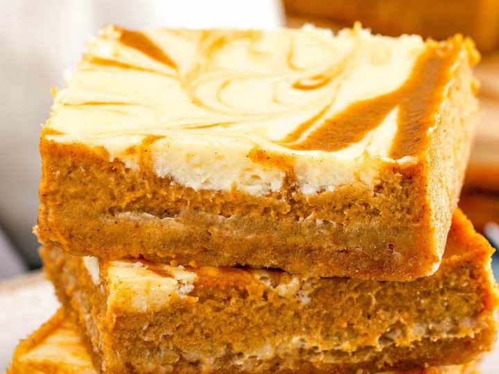 Easy Swirled Pumpkin Cheesecake Bars The Novice Chef