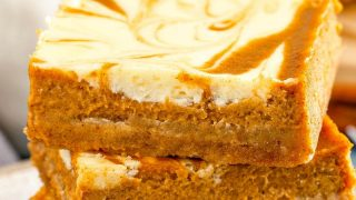 Swirled Pumpkin Cheesecake Bars