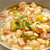 Slow Cooker Ham and Bean Soup Recipe