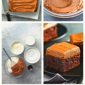 Pinterest image for chocolate mayonnaise cake.