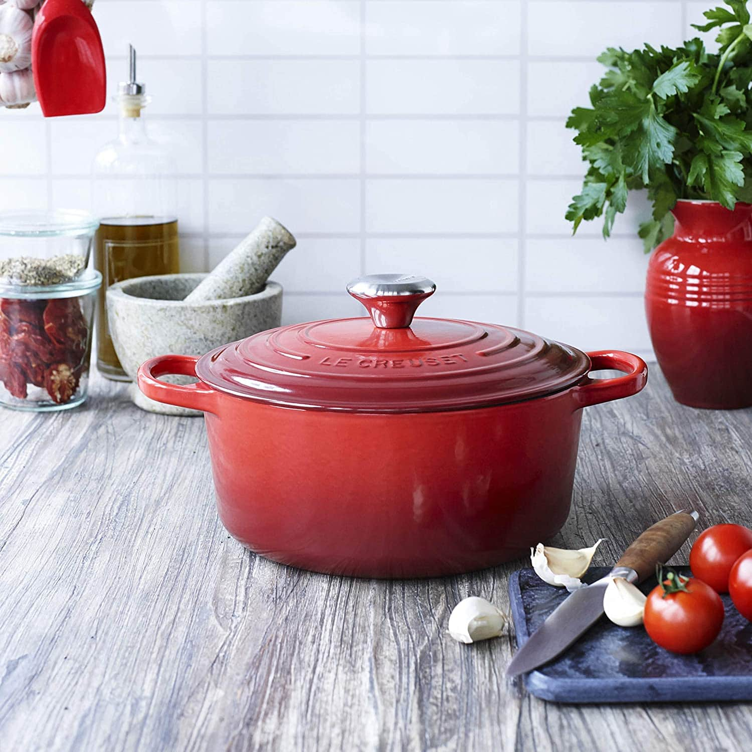 Enameled Cast-Iron Dutch Oven