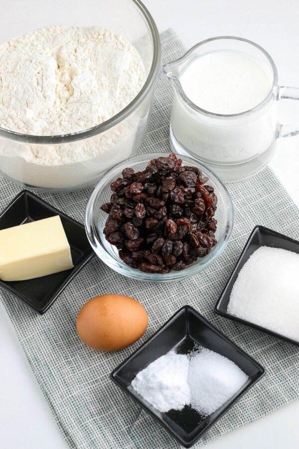 Ingredients for Irish Soda Bread Recipe