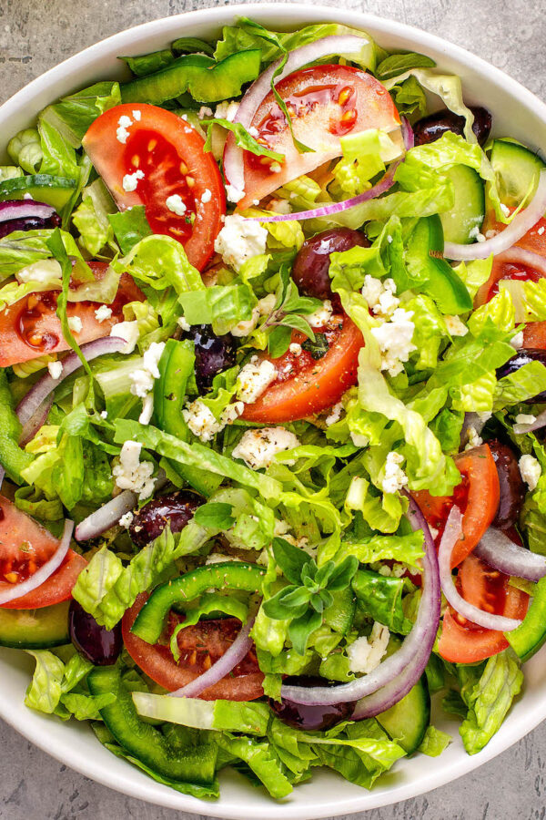 Making a Greek Salad