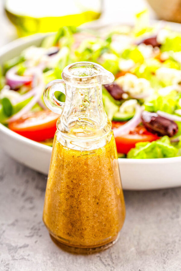 Bottle of Greek Salad Dressing