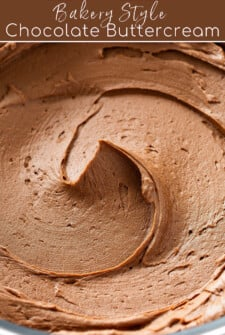 Close-up of Chocolate Buttercream.