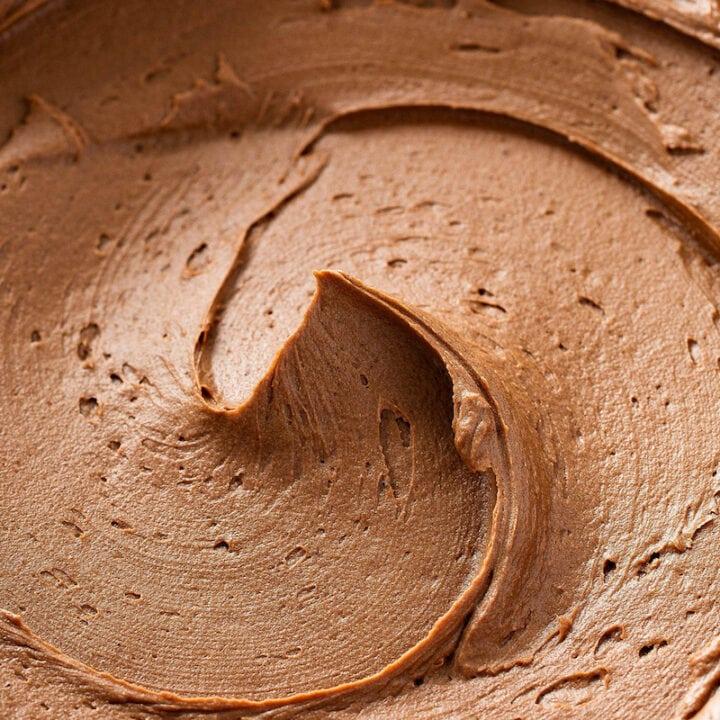 Close-up of Chocolate Buttercream.