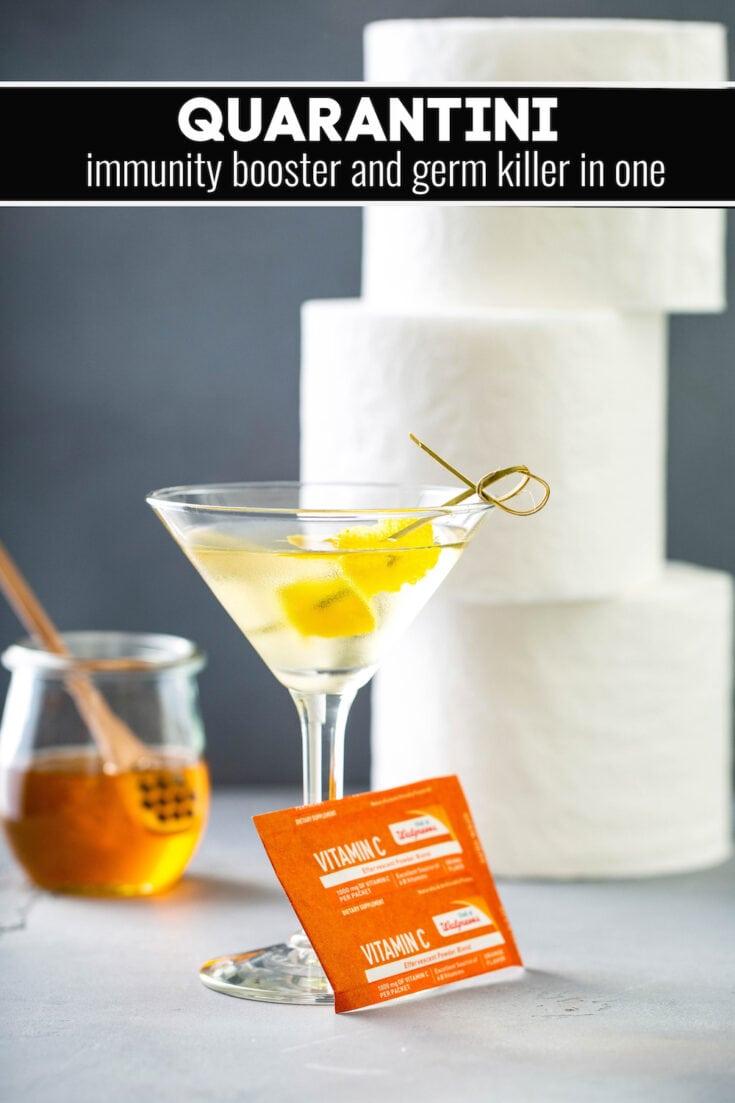 The Original Quarantini Drink | Easy Lemon Honey Martini Recipe