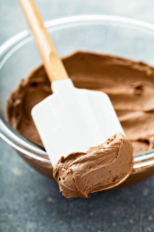 Mixing Chocolate Buttercream Frosting
