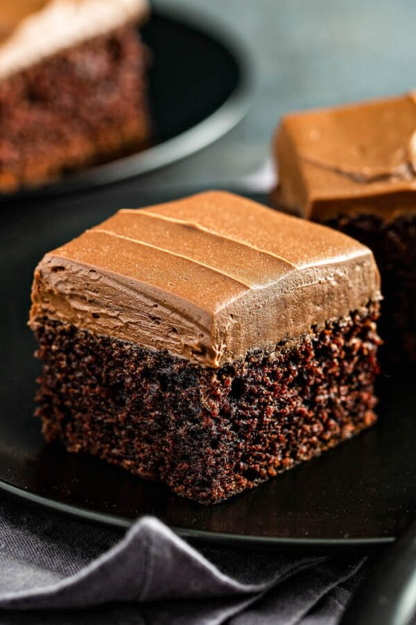 Chocolate Buttercream Frosting on Brownie
