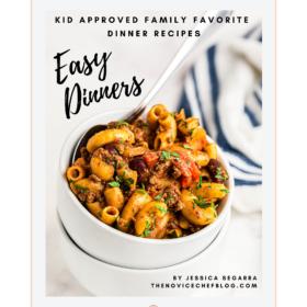Easy Dinners eBook on an iPad
