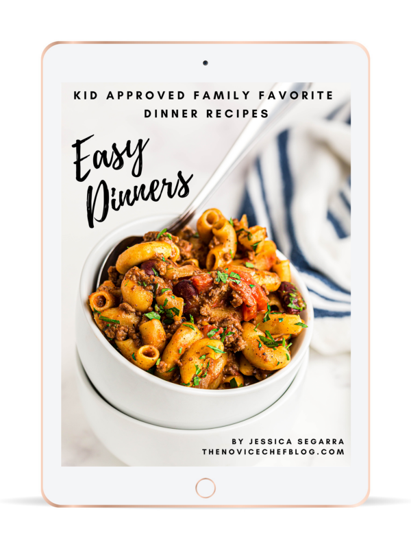 Easy Dinners eBook on an iPad