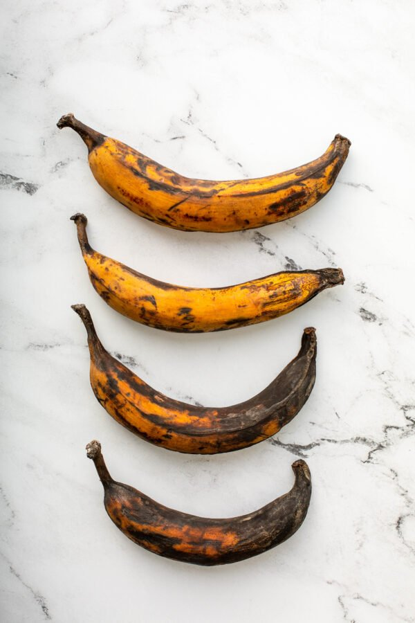 4 Plantains in Order of Ripeness