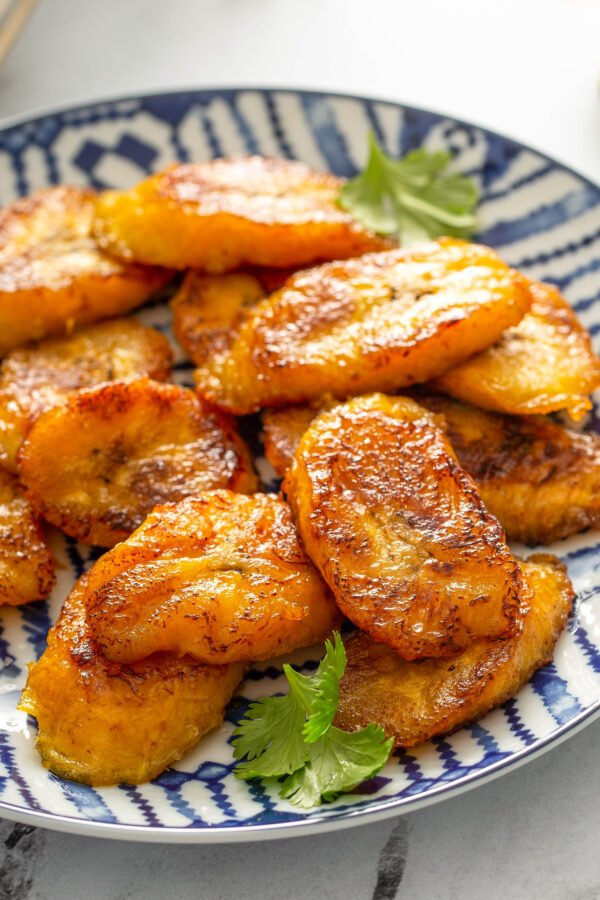 A Plate of Pan Fried Plantains