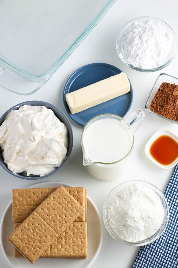 Ingredients You'll Need to Make No Bake Chocolate Eclair Cake