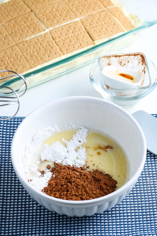 Chocolate Eclair Cake Ganache Layer Ingredients