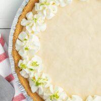 Frozen Key Lime Pie in a Sliver Pie Tin