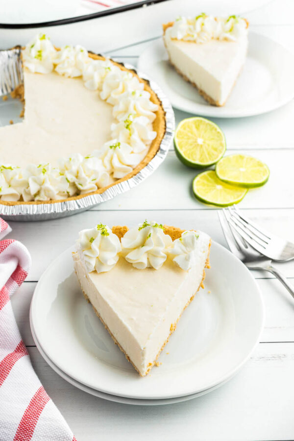 Two Slices of Frozen Key Lime Pie