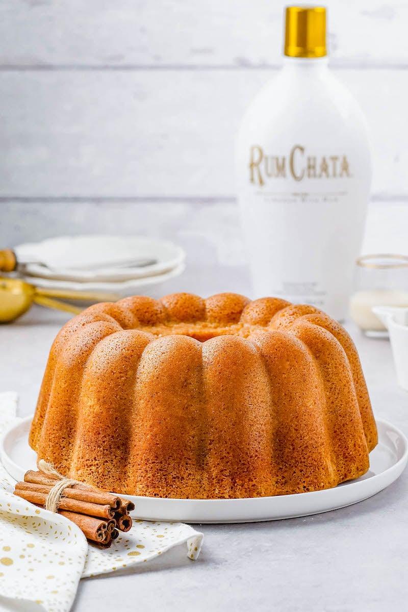 Rumchata pound cake without sauce.