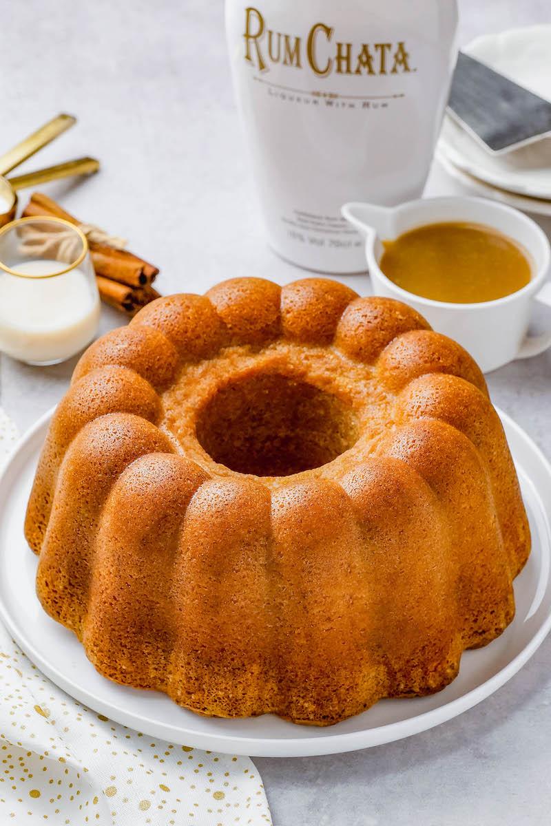 Baked rumchata pound cake.