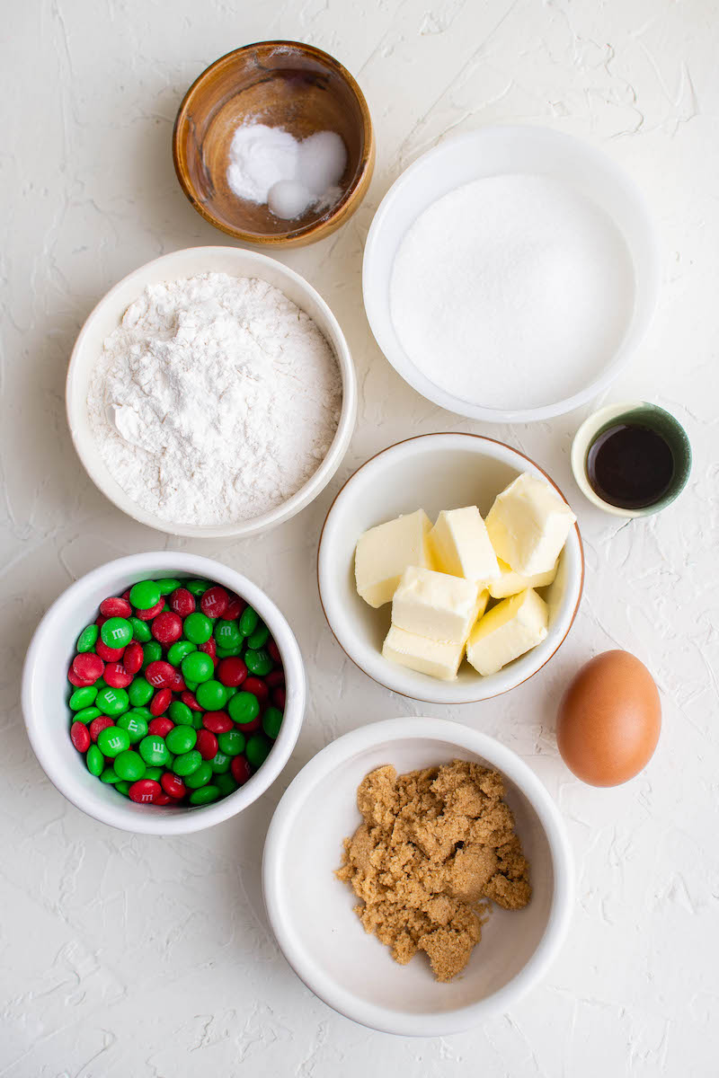 Ingredients for the Christmas cookies.