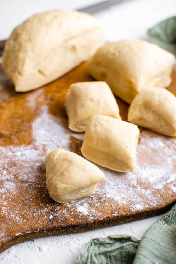 Squares of empanada dough.