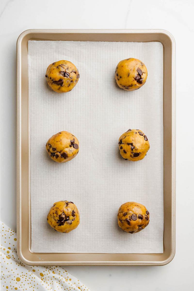 Chocolate chip cookie dough balls.