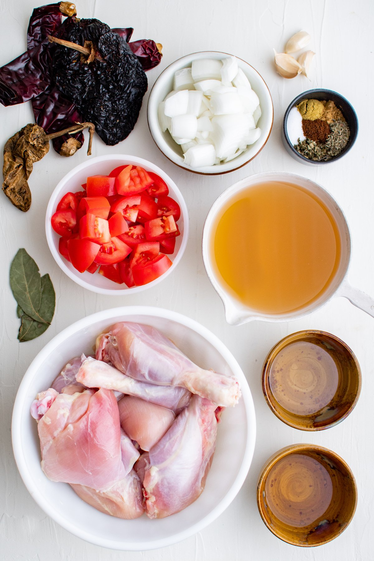 Ingredients for chicken adobo.