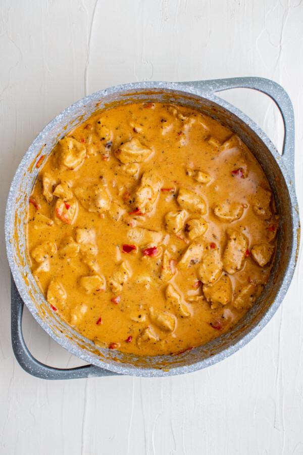 Chicken in a creamy Cajun sauce.
